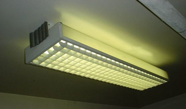 Louvered Fluorescent From Old High School