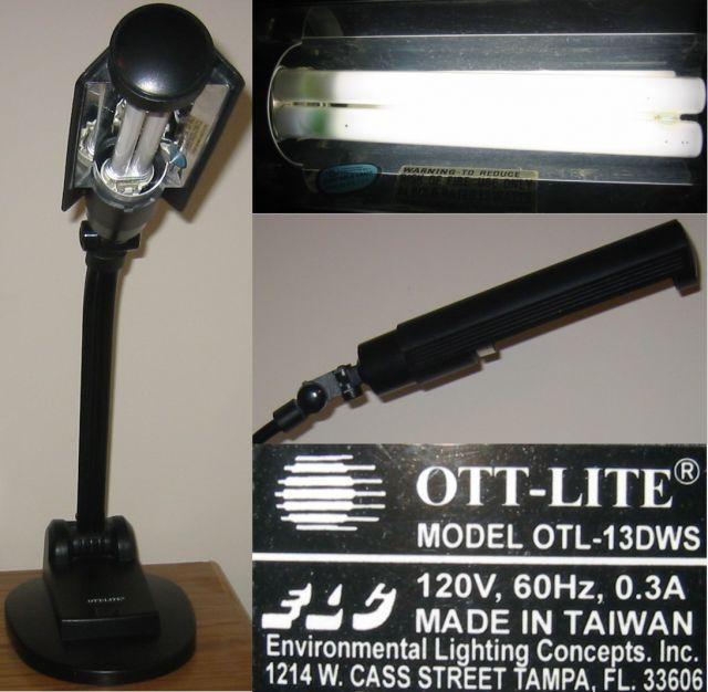 Lighting Gallery Net Cfl Ott Lite Executive Desk Lamp