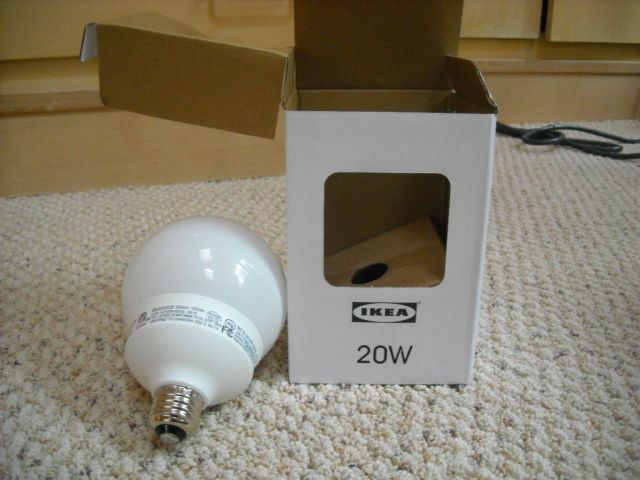 Lighting-Gallery-net - IKEA/20w IKEA Globe CFL