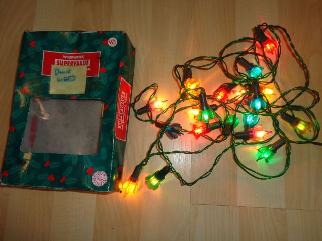 vintage christmas lights woolworths flower shape globes - Vintage Christmas Light Bulbs