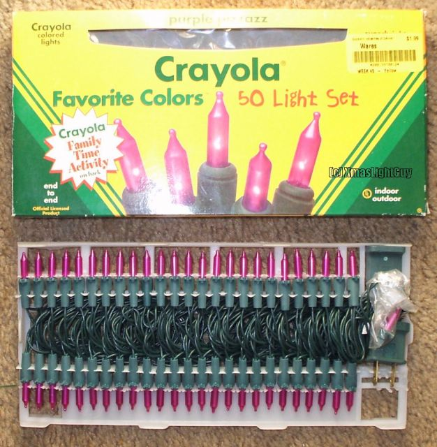 50 crayola metallic ish purple mini lights