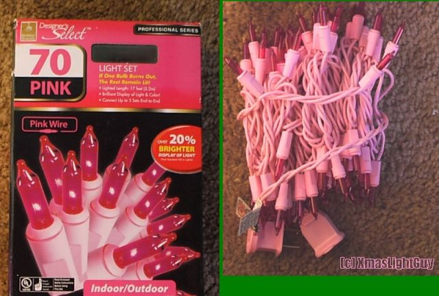 Lighting-Gallery-net - Christmas Lights (Specialty)/70 Pink Mini ...