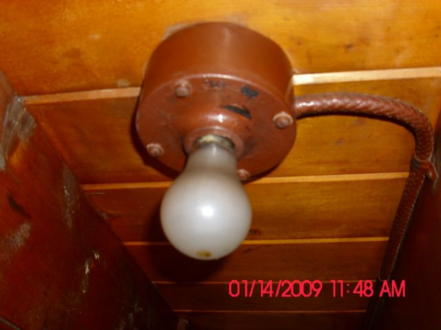 This Is Another Light On The Boat I Am Restoring And As You Can Tell It Very Old That S Lead Braided Think Wire