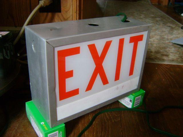 lighting gallery net seber's exit sign collection (????) alkco  alkco fixture wiring diagram