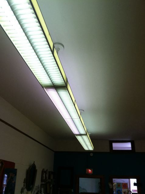Lighting-Gallery-net - Fluorescent light fixture/Old school louvre ...