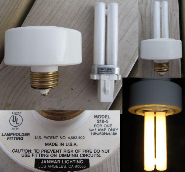 Lighting Gallery Net Cfls And Adapters Janmar Pl 5 Adapter