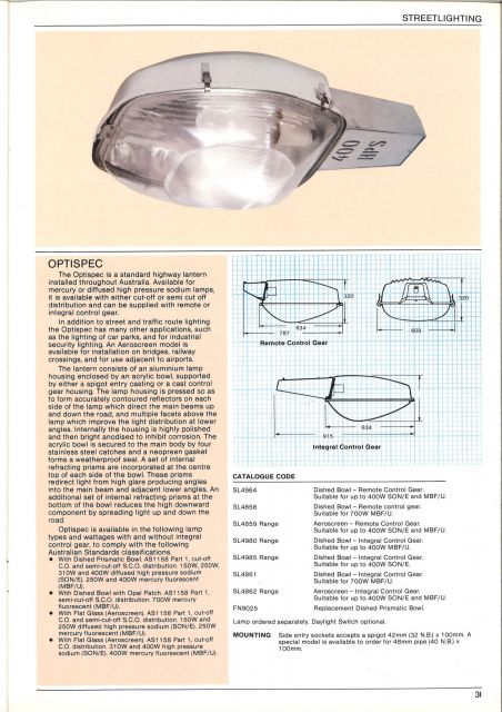 Lighting Gallery Net April 1984 Osram Australia Catalogue