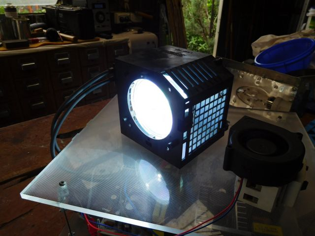 This Is My Xenon/ Mercury Arc Lamp Out Of An LG DLP Television. This Is By  Far, The Brightest Arc Lamp I Own. Runs Off Of The Original Driver Circuits  That ...