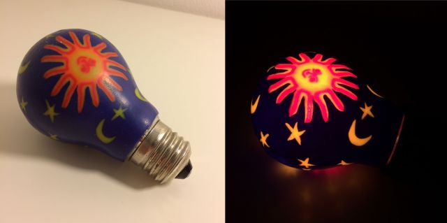 Painted Incandescent Bulb